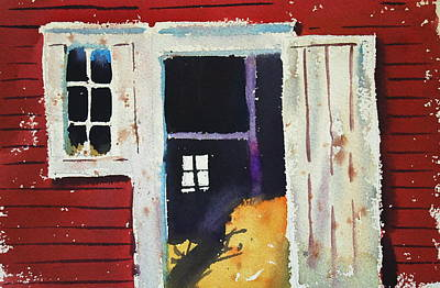 Painting - Open Barn Door by Len Stomski