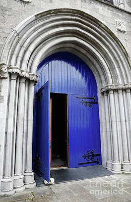 Photograph - Open Blue Door At Saint Patricks Cathedral In Dublin Ireland by Vizual Studio