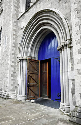 Photograph - Open Blue Door On St Patricks Cathedral Dublin Ireland by Vizual Studio
