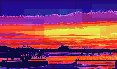 Photograph - Open Bridge Sunset by Adria Trail
