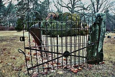 Photograph - Open Cemetery Gate by Sandy Moulder