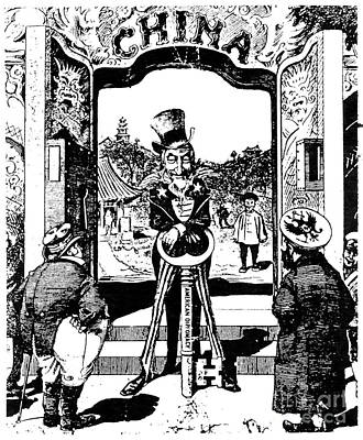 Photograph - Open Door Cartoon, 1900 by Granger
