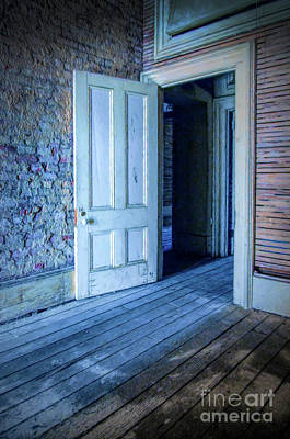 Photograph - Open Door In Abandoned Building by Jill Battaglia
