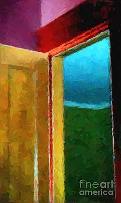 Entrance Door Mixed Media - Open Door by Jacqueline McReynolds