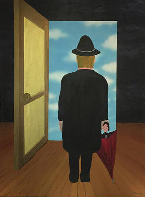 Surrealism Painting - Open Door by Thomas Blood