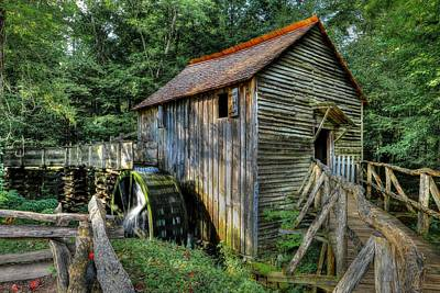 Photograph - Open Door To Cades Cove Grist Mill  by Carol Montoya