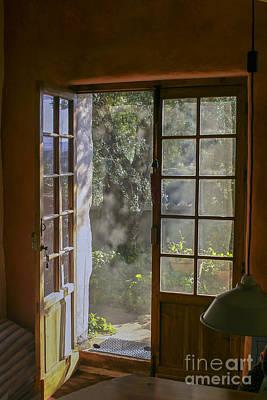 Open Door With Sunligh Art Print