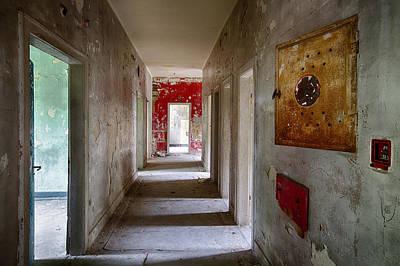 Haunted House Photograph - Open Doors - Abandoned Building by Dirk Ercken