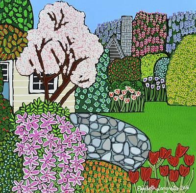 Painting - Open Garden by Elizabeth Langreiter