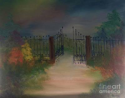 Art Print featuring the painting Open Gate by Denise Tomasura