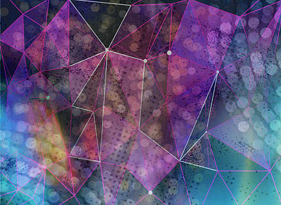 Digital Art - Open Geometric by Linda Carruth