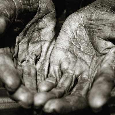 Two Old Hands Print by Skip Nall