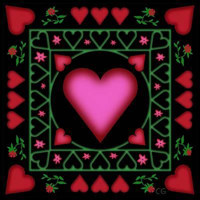 Open Heart Art Print by Clare Goodwin