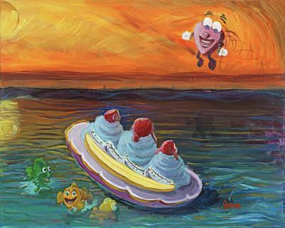 Painting - Open Heart by Jesse Bateman