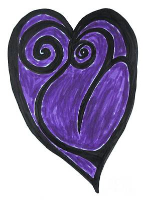 Drawing - Open Heart Love  by Marlene Rose Besso
