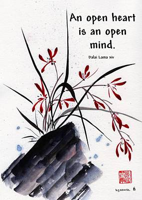 Painting - Open Hearts With Quote by Bill Searle