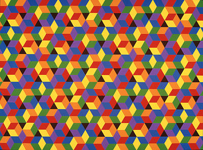 Painting - Open Hexagonal Lattice I by Janet Hansen