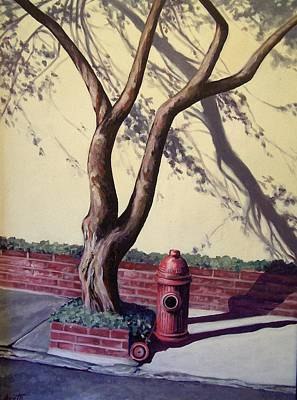 Painting - Open Hydrant by Laura Aceto