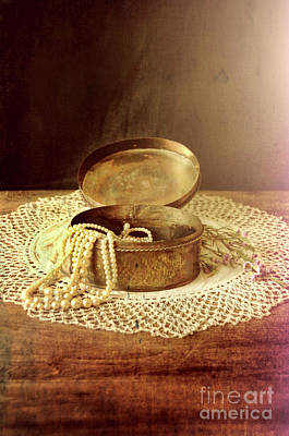 Photograph - Open Jewelry Box With Pearls by Jill Battaglia