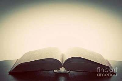 Age Photograph - Open Old Book by Michal Bednarek