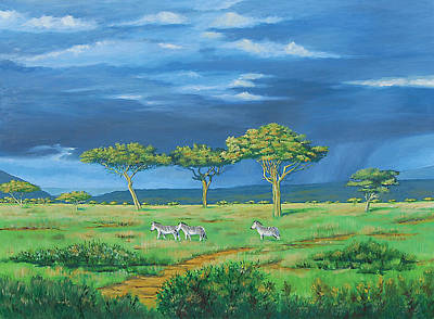 Painting - Open Plains by Deon West