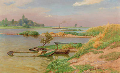 Painting - Open River Landscape by Mountain Dreams