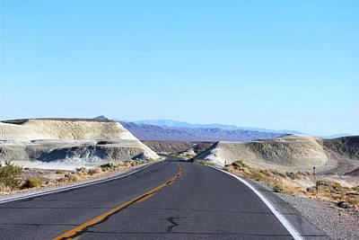 Photograph - Open Road Desert Rock Formation  by Matt Harang