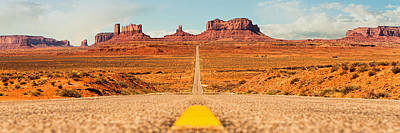 Photograph - Open Road In Southwest United States by Susan Schmitz