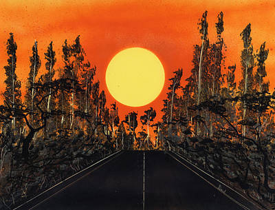 Painting - Open Road by Jason Girard