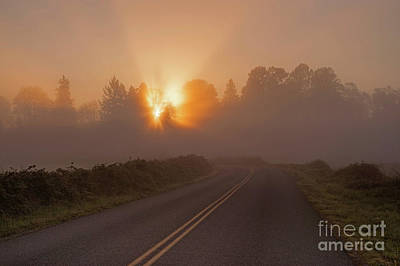Photograph - Open Road Sunrise by Jim Corwin