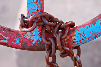 Open-wheel Photograph - Open Rusted Chain by James BO  Insogna