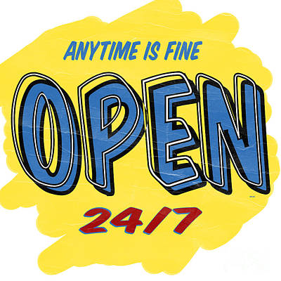Painting - Open Sign by Edward Fielding