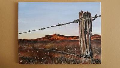 Karoo Painting - Open Spaces.  Magical Places by Jeannine Van Greunen