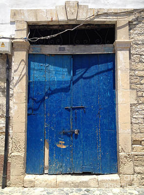 Phthalo Blue Photograph - Open The Door To Cyprus  by Clay Cofer