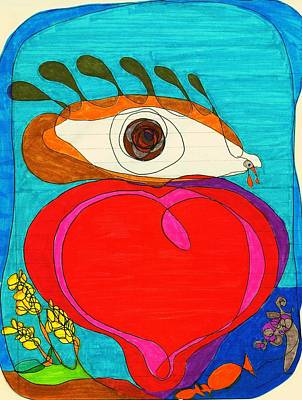 Mother Land Drawing - Open The Eyes Of My Heart by Martin Cline
