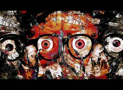 Yesayah Painting - Open The Eyes To The Mind Frames And The Missing Link by Fania Simon