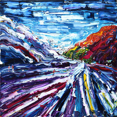 Painting - Open Trails Zermatt by Pete Caswell