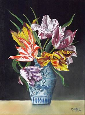 Painting - Open Tulips by Courtney Wilding