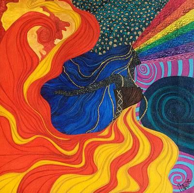 Open Up The Universe. Art Print by Tejsweena Renu Krishan