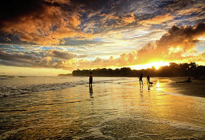 Sunset At The Beach Photograph - Open View by Iris Greenwell