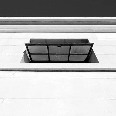Black And White Photograph - Open Window- By Linda Woods by Linda Woods