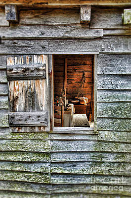 Log Cabin Interiors Photograph - Open Window In Pioneer Home by Jill Battaglia