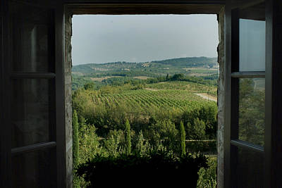 Open Window Looking Out On The Tuscan Art Print by Todd Gipstein