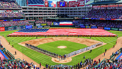 Sports Royalty-Free and Rights-Managed Images - Opening Day at Globe Life Park by Stephen Stookey