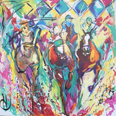 Opening Day In Del Mar Art Print