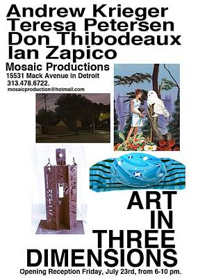 Mixed Media - Opening Flyer by Don Thibodeaux