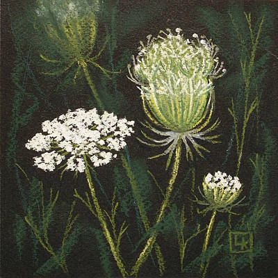 Opening Lace Art Print by Lisa Kretchman