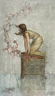 Pandora Photograph - Opening Of Pandoras Box by Granger