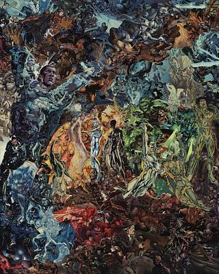Mixed Media - Opening Of The Fifth Seal After El Greco by Joshua Redman