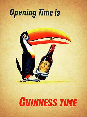 Food And Beverages Photograph - Opening Time Is Guinness Time by Mark Rogan